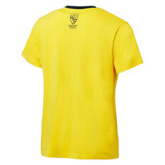 Cricket Australia 2018/19 Mens Supporter Tee Yellow S, Yellow, rebel_hi-res