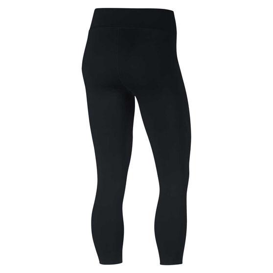 Nike Womens Power Hyper Crop Tights, Black, rebel_hi-res