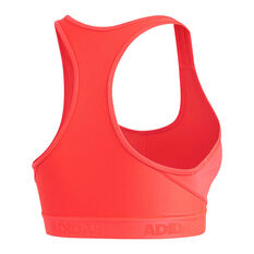 adidas Womens Dont Rest Alphaskin Sports Bra Red XS, Red, rebel_hi-res