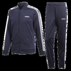 adidas Mens Back to Basic 3 Stripes Tracksuit Navy S, Navy, rebel_hi-res