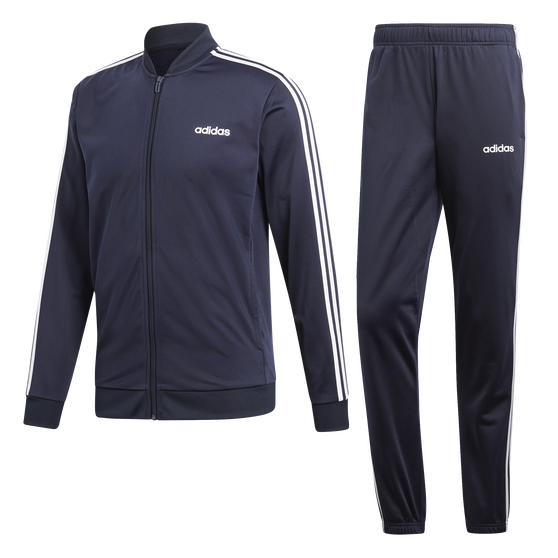 adidas Mens Back to Basic 3 Stripes Tracksuit, Navy, rebel_hi-res