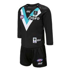 Port Adelaide Power 2020 Infant Home Guernsey Black 1, Black, rebel_hi-res