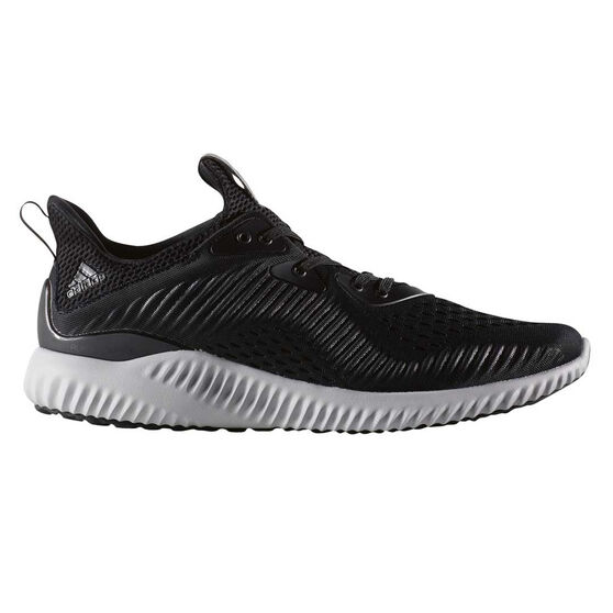 adidas AlphaBounce EM Mens Running Shoes, Black / White, rebel_hi-res