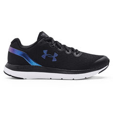 Under Armour Charged Impulse Colourshift Kids Running Shoes Black/Blue US 4, Black/Blue, rebel_hi-res
