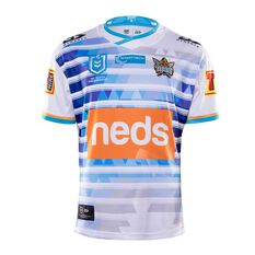 Gold Coast Titans 2020 Mens Away Jersey White / Blue S, White / Blue, rebel_hi-res