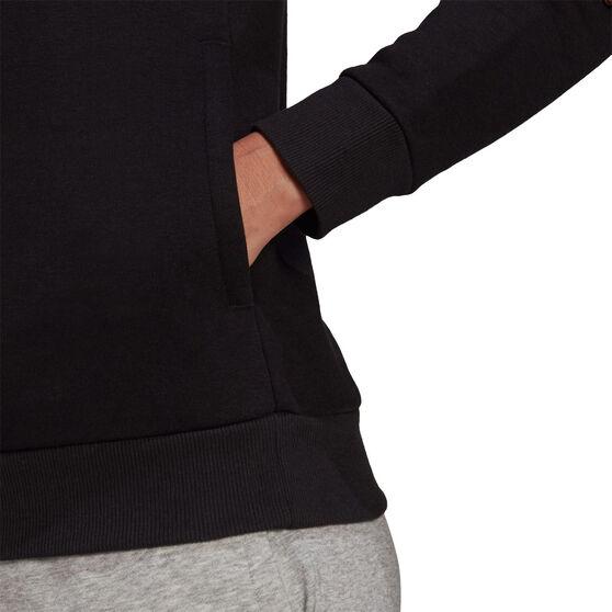 adidas Womens Badge Of Sport Fleece Hoodie, Black, rebel_hi-res