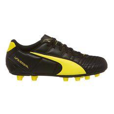 Puma Universal II Kids Soccer Boots Black / Yellow US 11 Junior, Black / Yellow, rebel_hi-res