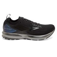 Brooks Levitate 3 Mens Running Shoes Black US 8, Black, rebel_hi-res