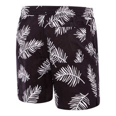 Speedo Mens Raffia Slim Fit Watershort Black / White S, Black / White, rebel_hi-res