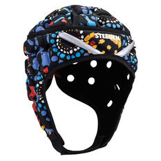 Steeden Super Lite Indigenous Protective Junior Headgear Multi JNR, Multi, rebel_hi-res