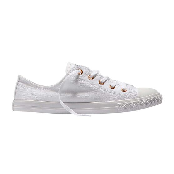 e74bbd32a69a Converse Chuck Taylor All Star Dainty Ox Womens Casual Shoes White   Gold  US 10