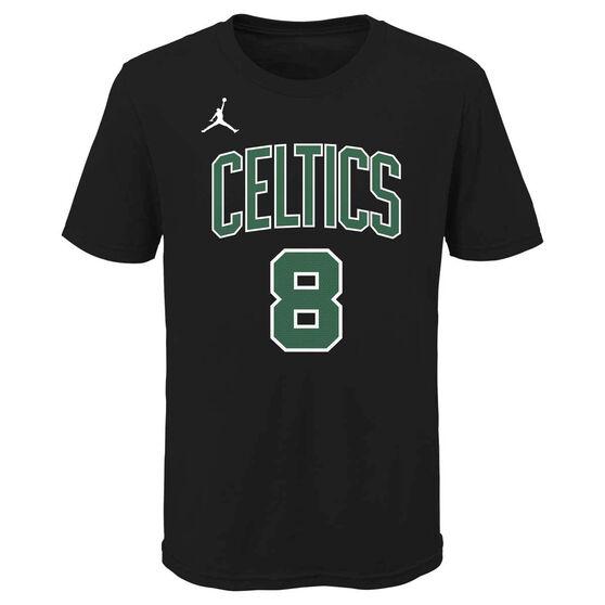 Jordan Boston Celtics Kemba Walker 2020/21 Kids Statement Tee, Black, rebel_hi-res