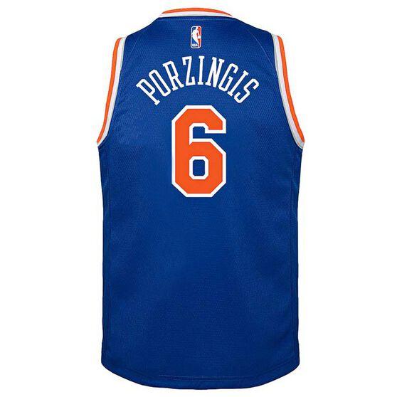 Nike New York Knicks Kristaps Porzingis Icon 2019 Kids Swingman Jersey, Signal Blue, rebel_hi-res