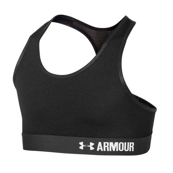 Under Armour Girls Armour Bra Black XL, Black, rebel_hi-res