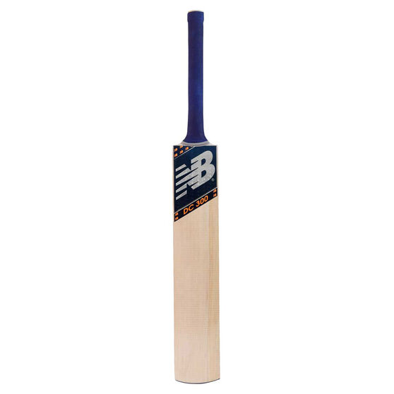 New Balance DC 300 Junior Cricket Bat, Blue/Orange, rebel_hi-res