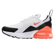 Nike Air Max 270 Kids Casual Shoes Black/Orange US 11, Black/Orange, rebel_hi-res