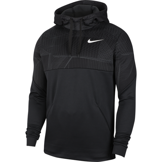 NWT Men's Nike Therma Training Pullover Hoodie Choose Size Black Smoke Gray