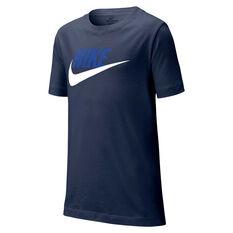 Nike Sportswear Boys Futura Tee Navy/White XS, Navy/White, rebel_hi-res