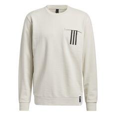 Adidas Mens PG Lite Sweatshirt White S, White, rebel_hi-res