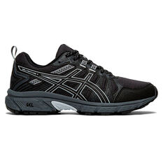 Asics GEL Venture 7 D Womens Trail Running Shoes Black / Grey US 6, Black / Grey, rebel_hi-res