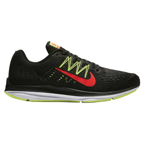 Nike Zoom Winflo 5 Mens Running Shoes Black / Red US 7, Black / Red, rebel_hi-res