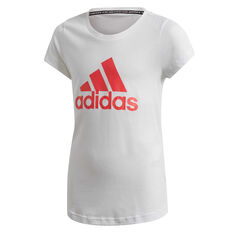 adidas Girls Must Haves Badge Of Sport Tee White 6, White, rebel_hi-res