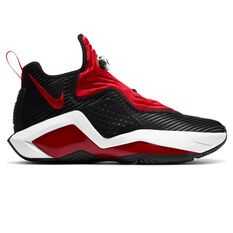 Nike LeBron Soldier XIV Mens Basketball Shoes Black/Red US 7, Black/Red, rebel_hi-res
