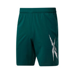 Reebok Mens Workout Ready Woven Shorts Green S, Green, rebel_hi-res