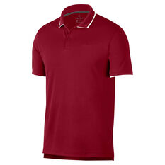 NikeCourt Mens Dri-FIT Tennis Polo Red S, Red, rebel_hi-res