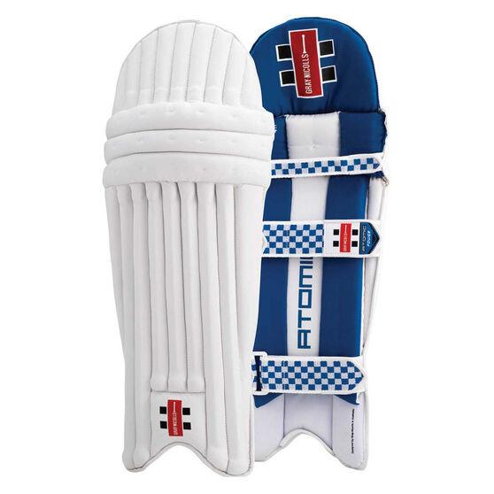 Gray Nicolls Atomic Power Junior Cricket Batting Pads, White / Blue, rebel_hi-res