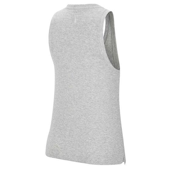 Nike Womens Yoga Henley Tank, Grey, rebel_hi-res