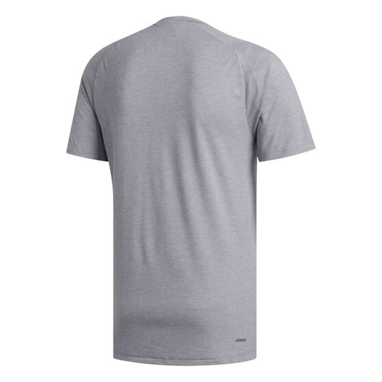 adidas Mens FreeLift Prime Heather Tee, Grey, rebel_hi-res