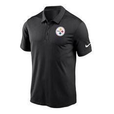 Pittsburgh Steelers 2020 Mens Logo Essential Polo Black S, Black, rebel_hi-res