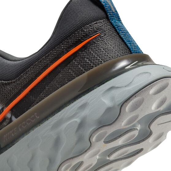 Nike React Infinity Run Flyknit 2 Mens Running Shoes, White/Orange, rebel_hi-res