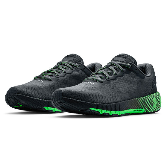 Under Armour HOVR Machina 2 Mens Running Shoes, Grey/Green, rebel_hi-res