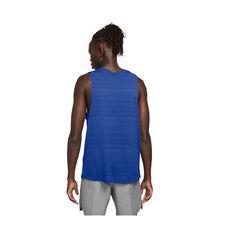 Nike Mens Dri-FIT Miler Tank Blue XS, Blue, rebel_hi-res