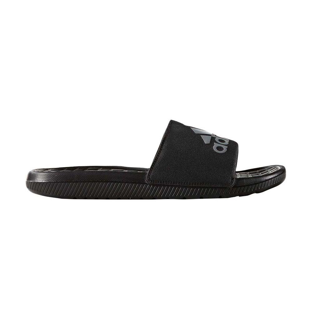 ffc261515fd8 adidas Voloomix Mens Slides Black   Silver US 11