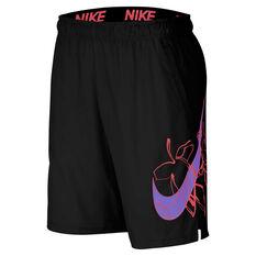Nike Mens Flex Woven Training Shorts Black M, Black, rebel_hi-res
