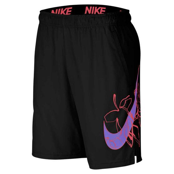 Nike Mens Flex Woven Training Shorts Black S, Black, rebel_hi-res
