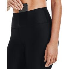 Under Armour Womens HeatGear No-Slip Graphic 7/8 Tights, Black, rebel_hi-res