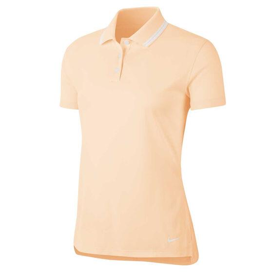 Nike Womens Dri FIT Victory Golf Polo, Orange, rebel_hi-res