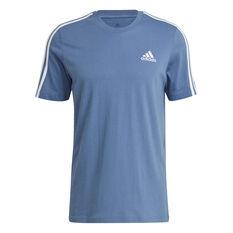adidas Mens Essentials 3-Stripes Tee Blue S, Blue, rebel_hi-res