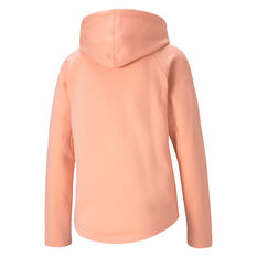 Puma Womens Evostrip Full Zip Hoodie Orange XS, Orange, rebel_hi-res