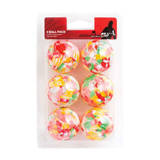 Dragonfly Multicolour Table Tennis Balls 6 Pack Multicolour, , rebel_hi-res