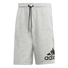 adidas Mens Must Haves BOS French Terry Shorts Grey S, Grey, rebel_hi-res
