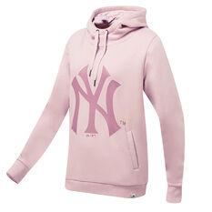 New York Yankees Womens Piedmont Hoodie Pink XS, Pink, rebel_hi-res