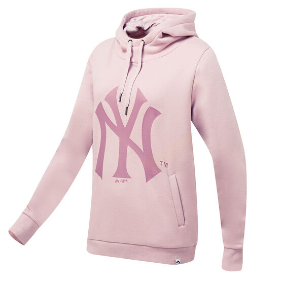 official photos 83856 74229 New York Yankees Womens Piedmont Hoodie Pink XS