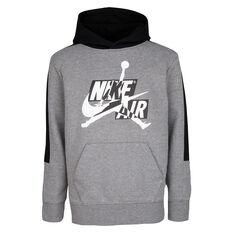 Nike Boys Jordan Jumpman Classics III Hoodie Grey/Black S, Grey/Black, rebel_hi-res