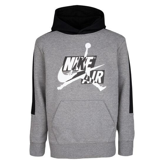 Nike Boys Jordan Jumpman Classics III Hoodie, Grey/Black, rebel_hi-res