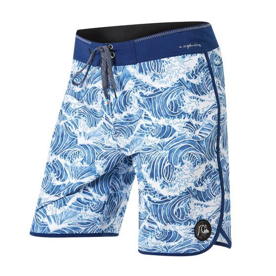 Quiksilver Mens Highline Legend 19in Boardshorts, Blue, rebel_hi-res